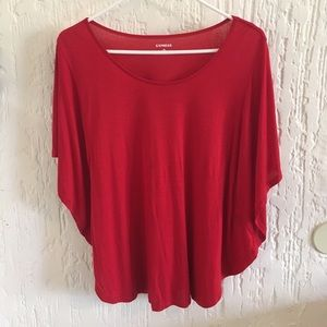 Express Red Batwing Top Size XS